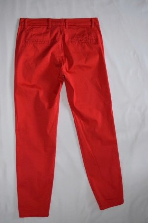 Mango Basics Peg Top Trousers red