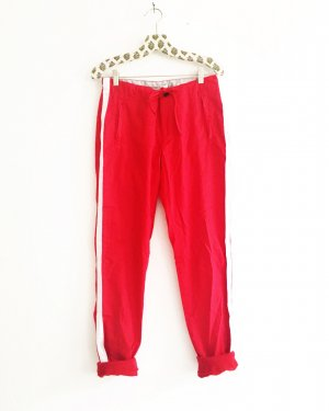 rote hose / weisse streifen / casual / vintage / cool pants