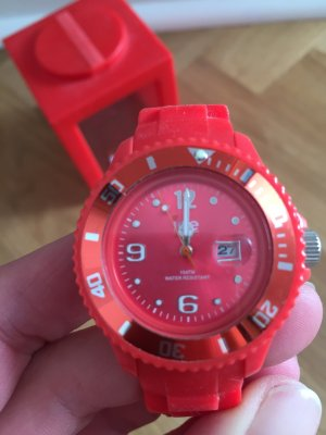 Rote Ice - Watch, Sili, mit Box, super Zustand!
