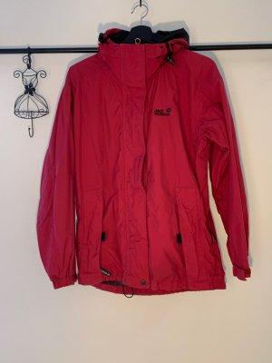 Rote Jack Wolfskin Winterjacke mit Fleece