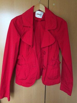 rote Jacke mit Gurt von Only