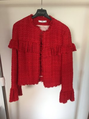 rote Jacke mit Volants
