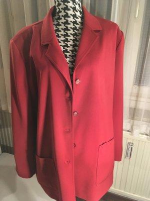Rote Jacke, Outdoorjacke mit Rautenmuster, rot, Gr. 50, wie NEU