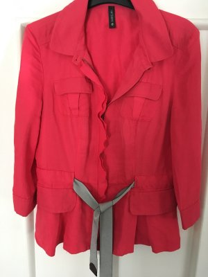 Marc Cain Blouse Jacket red linen