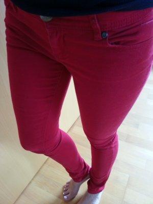 Rote Jeans Amisu Hose super bequem! Skinny Röhre