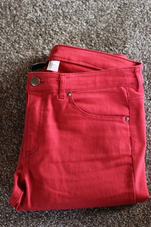 Rote Jeans, H&M Divided, Skinny Jeans