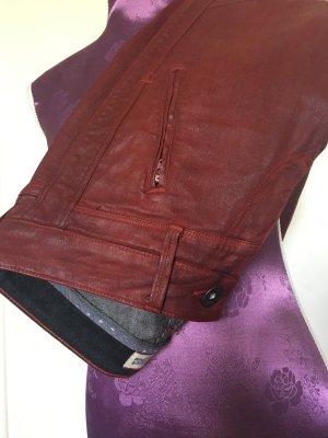 Rote Jeans in Lederoptik von Tommy Hilfiger