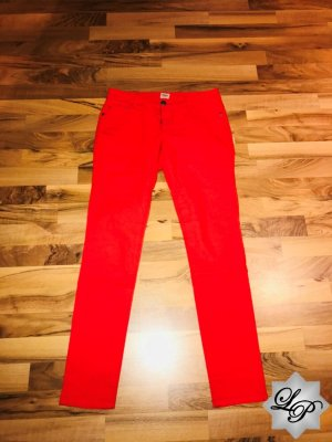 Rote Jeans - leichter Stretch