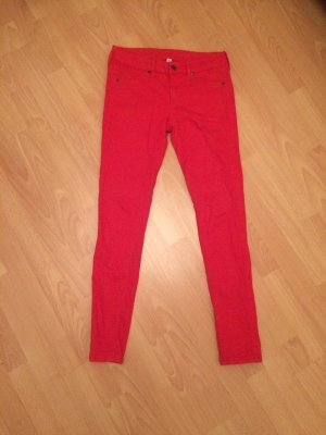 Rote Jeans Mango 36 S Röhre Super Skinny