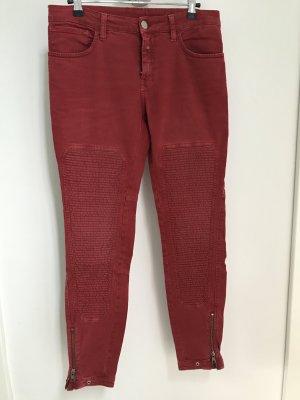 Rote Jeans von CLOSED im Biker Style, Modell HOLLY, Größe 27