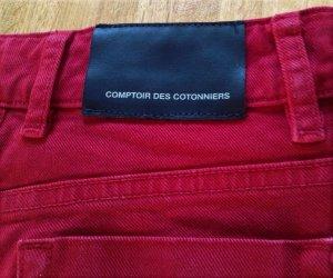 Comptoir des Cotonniers Low Rise Jeans brick red cotton
