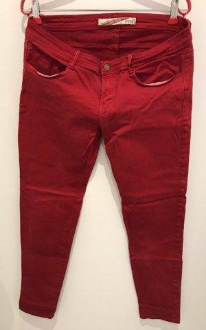 Zara Vaquero slim rojo ladrillo