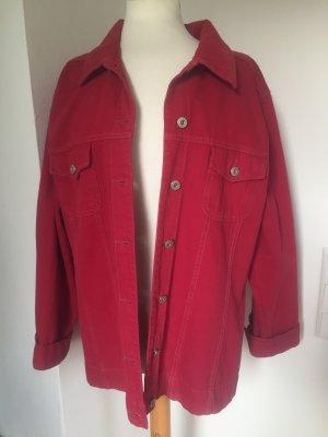 C&A Denim Jacket red cotton