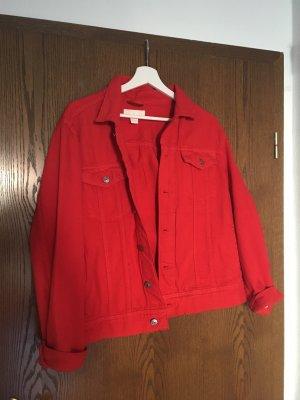 Rote Jeansjacke H&M