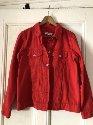 Rote Jeansjacke von Edited