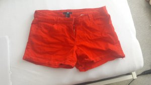 rote Jeansshort/ Hotpants