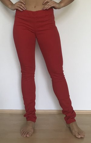 H&M Jeggings brick red cotton