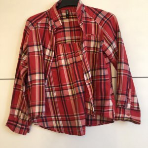 Geruite blouse veelkleurig Acetaat