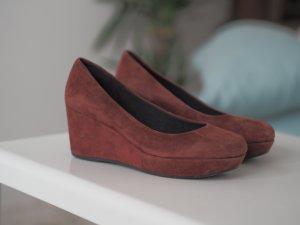 Rote Keilabsatz Schuhe von Vagabond