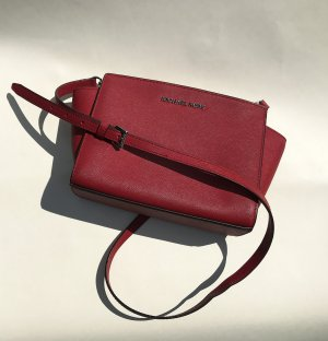 Michael Kors Crossbody bag dark red-brick red leather