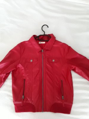 Rote Kunstlederjacke von H&M