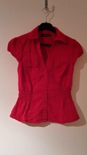 Rote Kurzarm Bluse