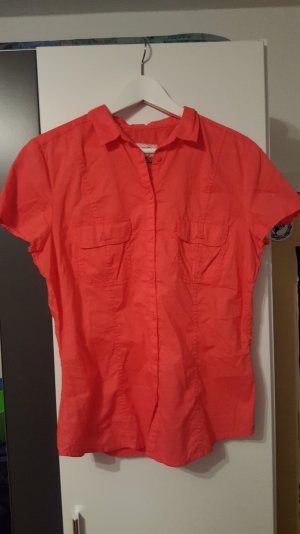 Rote kurzarm Bluse von Clockhouse