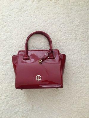 Rote Lack Handtasche von L. Credi