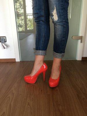 Rote Lack High Heels von Görtz 17