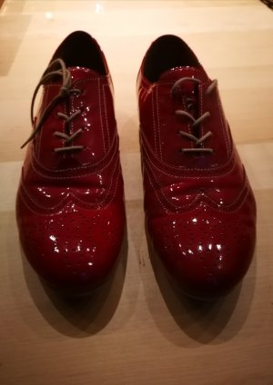 Gabor Wingtip Shoes red