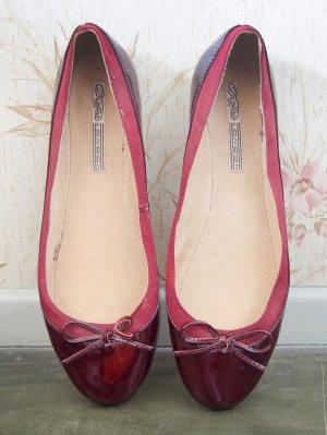 rote lackleder Ballerinas