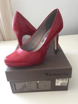 Rote Lackpumps, Tamaris, 39