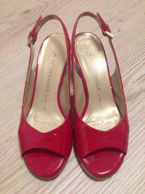 rote Lackschuhe Sandaletten Peter Kaiser Gr 37