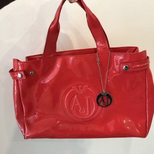 Armani Carry Bag red imitation leather