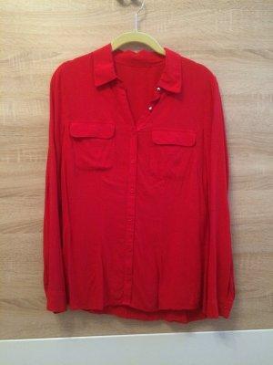 Rote Langärmelige Bluse