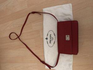 Rote Leder Pochette von Prada
