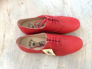 Rote Leder Schnürschuhe 36
