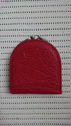 Portefeuille rouge foncé