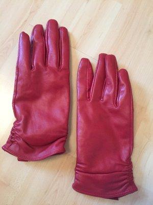 Rote Lederhandschuhe , wie neu, von TR