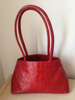 rote Lederhandtasche von Furla