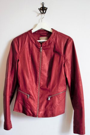 Orsay Leather Jacket red
