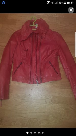 Adler Leather Jacket red