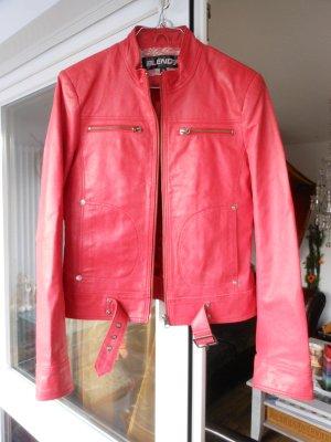 rote Lederjacke von Blend she 100% echtes Leder