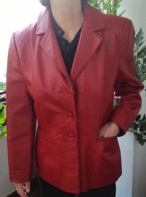rote Lederjacke von Giorgio Mobiani