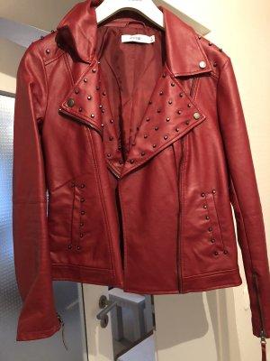 rote Lederjacke von Justfab