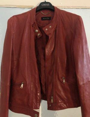 Rote Lederjacke von Massimo Dutti