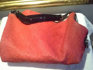 Louis Vuitton Sac Baril rouge clair cuir