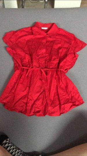 Rote leichte Bluse mit Band