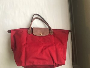 Rote Longchamp Tasche, Größe M mit kurzen Henkeln