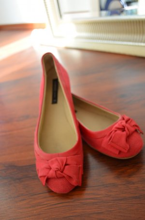 rote Mango Ballerinas mit Schleife